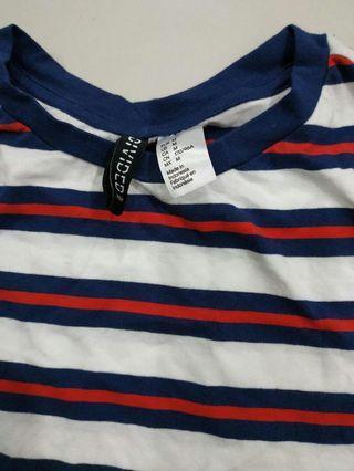 H&m tee striped