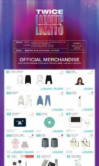 [GO] TWICE WORLD TOUR 2019 'TWICELIGHTS' Official Merchandise