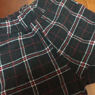 🚚 毛呢格紋褲