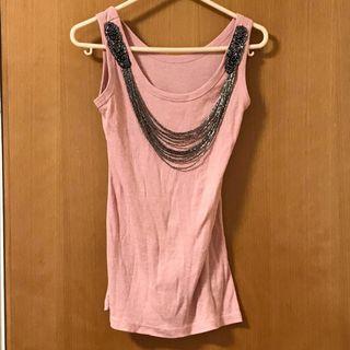 粉紅色背心 pink tank top