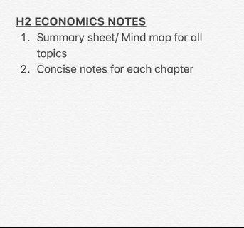 H2 Economics Notes