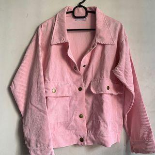 Ribbed Button Jacket (Pastel Pink) #JuneHoliday30