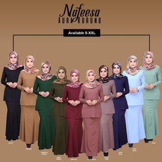 💥HOT💥NAFEESA AURA KURUNG (Saiz S~XXL, 10Colour, Muslimah Wear, BF Friendly)