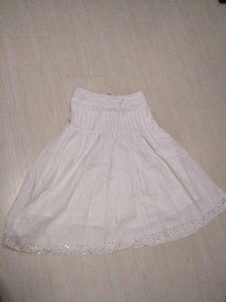 White Skirt with sequins