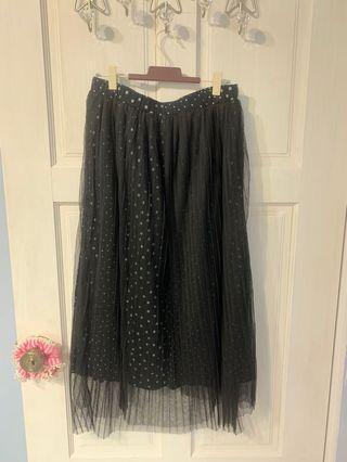 a la sha 大小點點紗裙。M號