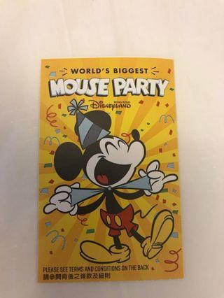 迪士尼成人門票Disneyland ticket 25/5人塲