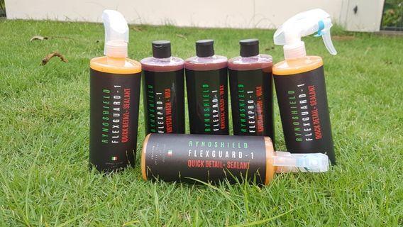 Italy rynoshield flexpro wash and flexguard quick detailer