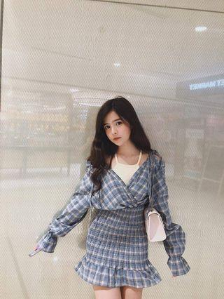 Checkered Dress size s m
