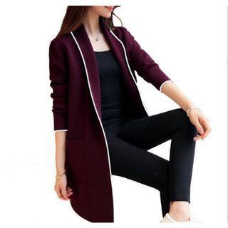 💥COOL💥Elegant Women Cardigan Long Jacket Trench Coat Autumn Winter Wool Outerwear