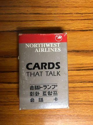 NORTHWEST AIRLINES CARDS THAT TALK 撲克牌