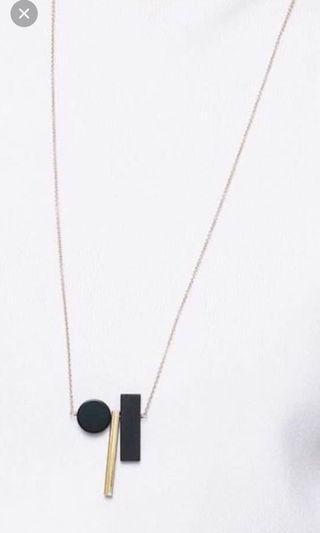Geometric Bar Necklace