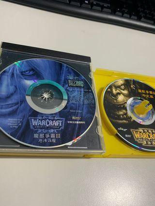 魔獸爭霸&寒冰霸權 正版光碟含序號 兩組一起賣