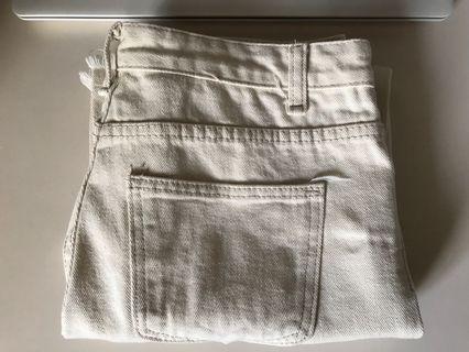 🚚 韓版白牛仔長褲