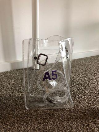 A5 Transparent bag