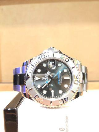 Pre Owned Rolex Oyster Yacht-Master 268622 Rhodium Dial Automatic Steel Casing Bracelet