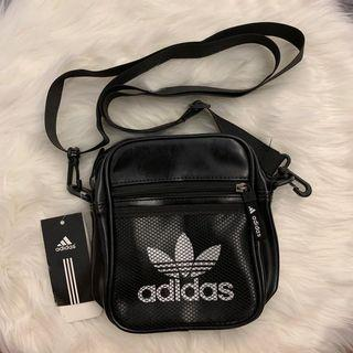 ADIDAS PU LEATHER SHOULDER SLING BAG