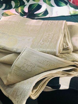 Silk tissue scarf dupatta