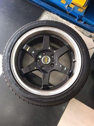 "Deepdish 17"" rim &tyre wanna swap or trade"