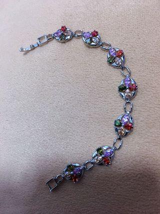 🚚 Overlay Multi Colour Link Chain Bracelet