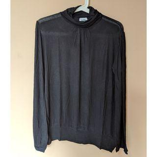 Zara TRF Turtleneck T-shirt Black