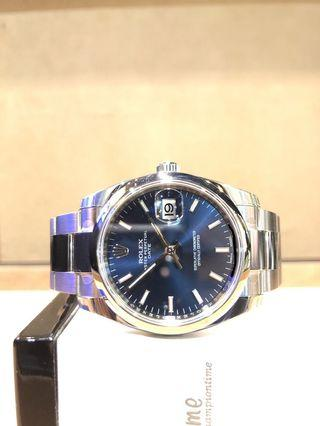 Brand New Rolex Oyster Date 115200 Blue Dial Automatic Steel Casing Bracelet