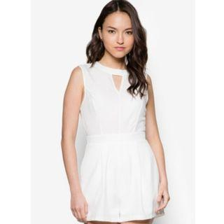 Something Borrowed White High Neck Playsuit