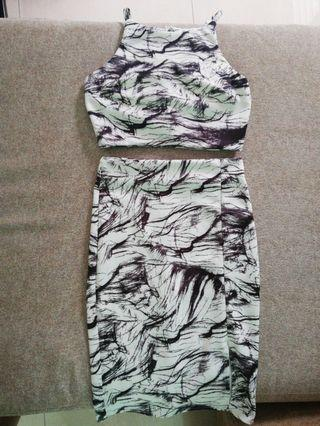 (INC POS) Two Pieces Marble Dress