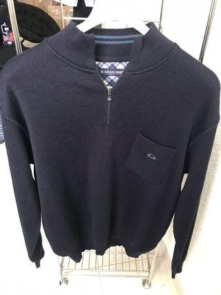 Pullover sweater navy blue