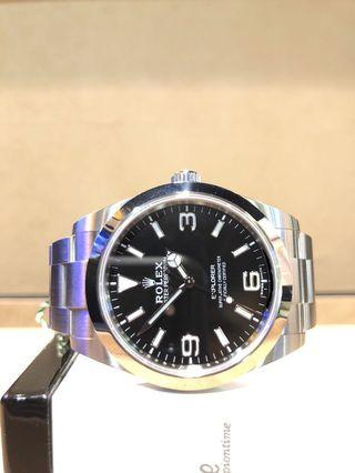 Brand New Rolex Oyster Explorer I 214270 Black Dial Automatic Steel Casing Bracelet