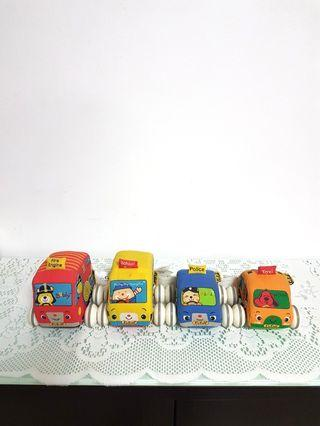 Washable Soft Body Pull~Back Toy Cars.