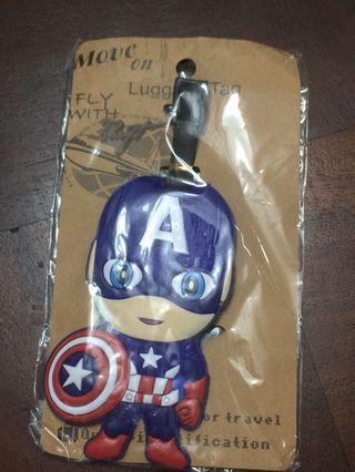 Captain American cute luggage tag