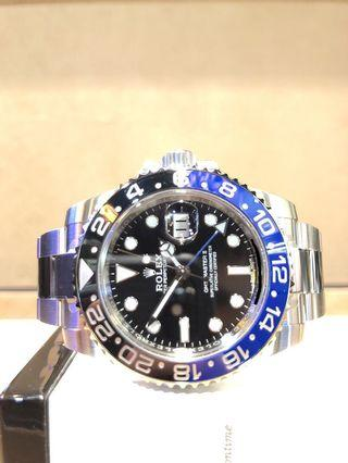 "Brand New Rolex Oyster GMT Master II 116710BLNR ""Batman"" Black Dial Automatic Steel Casing Bracelet"