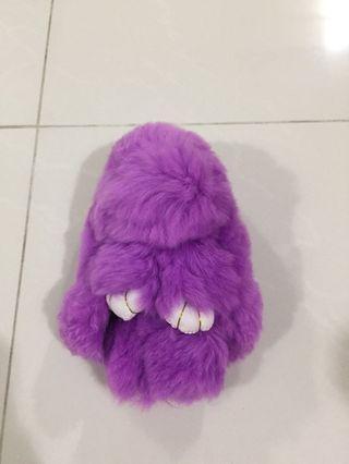 🚚 Brand new flurry rabbit keychain