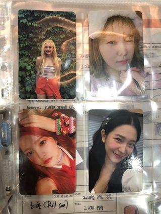 Red Velvet Yeri Photocard