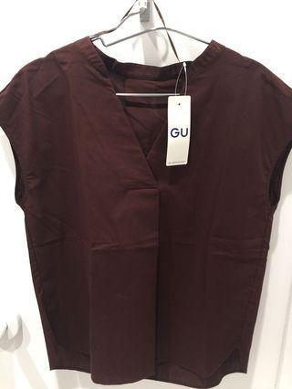 GU🇯🇵 blouse dark brown