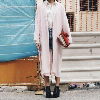 🚚 younghungryfree light pink lapel coat
