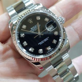 Rolex Datejust Stainless Steel Black Dial