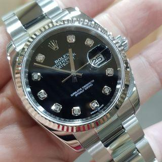 Rolex Datejust Stainless Steel Black Dial with Diamond