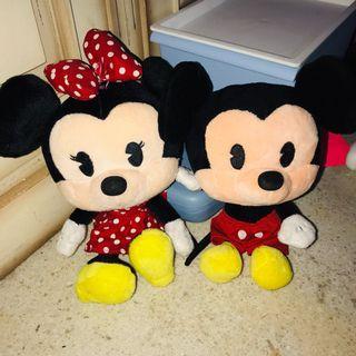 Mickey Minnie Mouse Plush Cuties