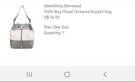 🚚 #Blessing Free Zalora Bought Bucket Bag