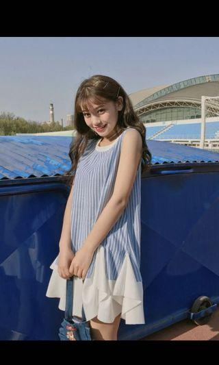 夏裝必擁有_藍白條紋洋裝