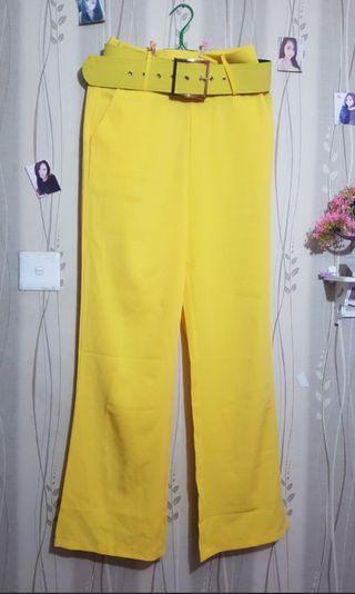 Yellow Cullote / Yellow Pants / Kulot Kuning