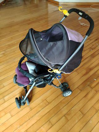 Combi stroller reversible