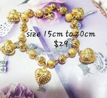 24k Gold Plated Dangle Bracelet