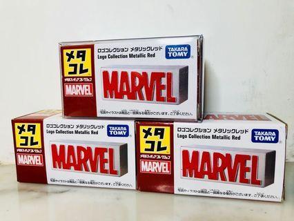TAKARA TOMY Marvel logo collection metallic red 合金磚頭擺設
