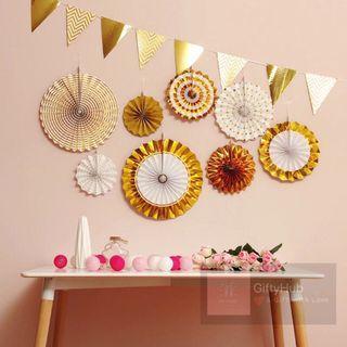 Party Paper Fan Set | Instock