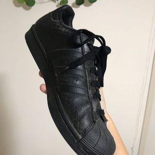 all black snakeskin adidas superstars