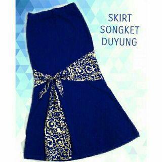 Mermaid skirt songket royal blue