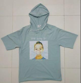Cute Graphic Turquoise Hoodie
