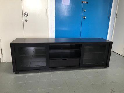 Glass sliding doors TV Cabinet